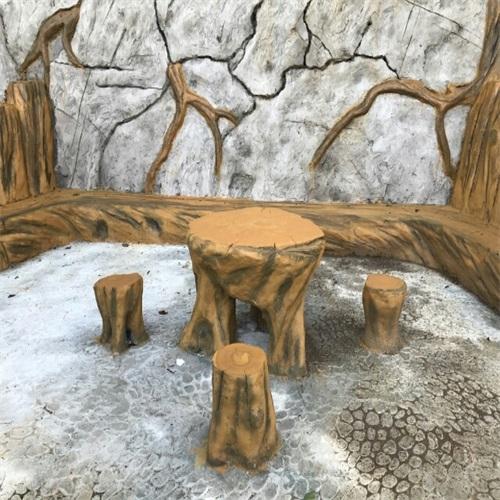 grc公园桌椅